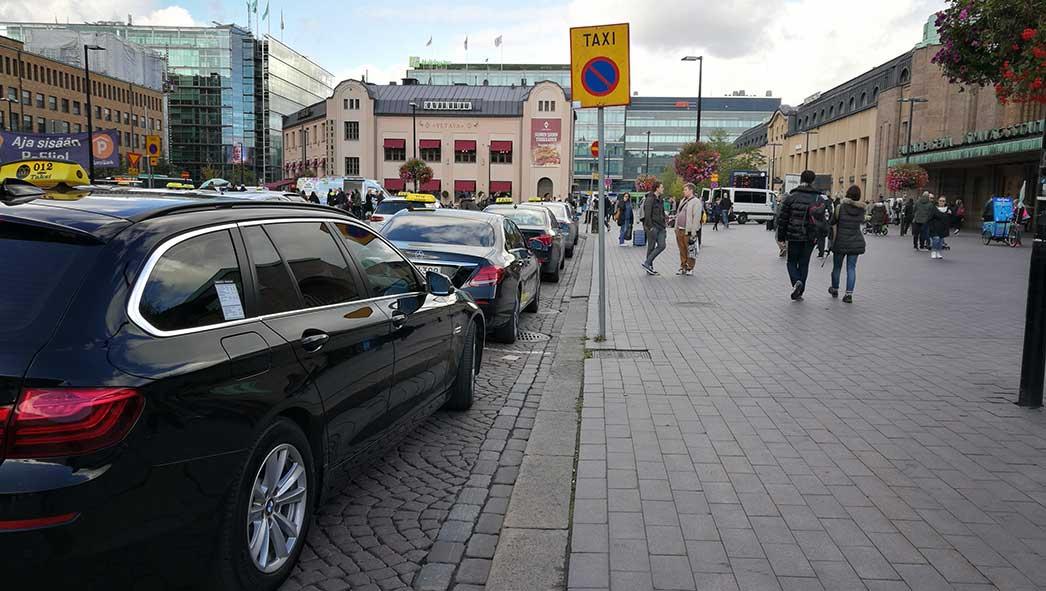 Taxi stop in Helsinki